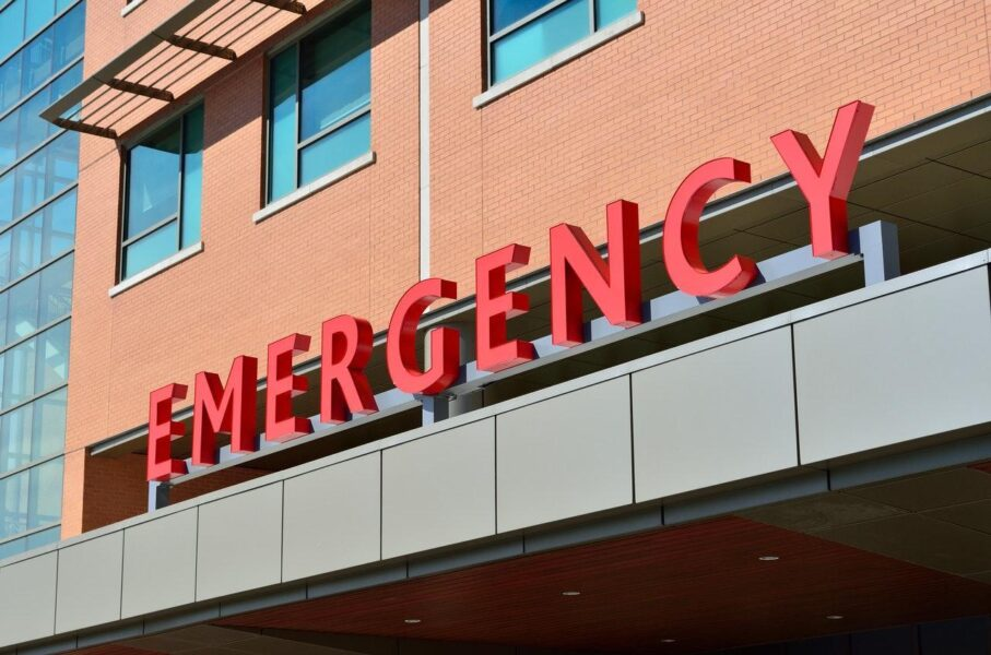 Entrance to the emergency room